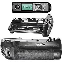 Neewer® Impugnatura Portabatteria Telecomando Wireless con 2.4GHZ LCD Display Incorporato per Riprese Sostituzione per MB-D17 Lavora con 1 Batteria Ricaricabile EN-EL15 o 8 Batterie AA per Fotocamera Nikon D500