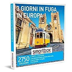 Idea Regalo - SMARTBOX - Cofanetto regalo coppia- idee regalo originale - 3 giorni condivisi in Italia e in Europa