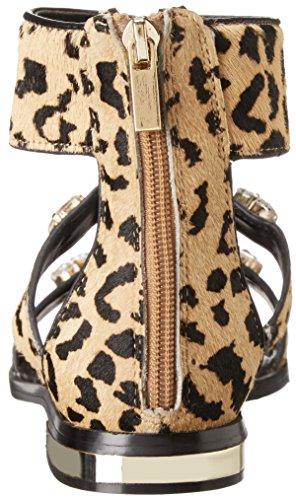 Aldo Eluniel Haar Pelz Gladiator Sandale Summer Leopard