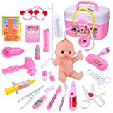 Pengrui Arztkoffer Arzt Spielzeug Kinderarztkoffer Doktor Set Medizinische Kit Lernspielzeug Kinder...