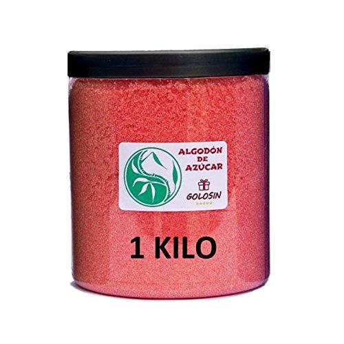 Zuckerwatte Zucker für zuckerwattemaschine - Erdbeer-Geschmack - 1 Kg.