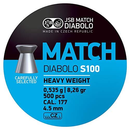 JSB Match Heavy Diabolo Kaliber 4,5 mm / .177 Luftgewehr Wettkampf Munition - 500 Stück