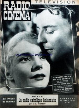 RADIO CINEMA TELEVISION [No 67] du 29/04/1951 - JULIETTE OU