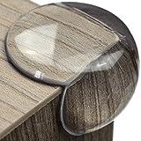 Premium Eckenschutz und Kantenschutz transparent aus Kunststoff für Tisch- und Möbel-Ecken - Stoßschutz für Baby's und Kinder (12er-Pack)