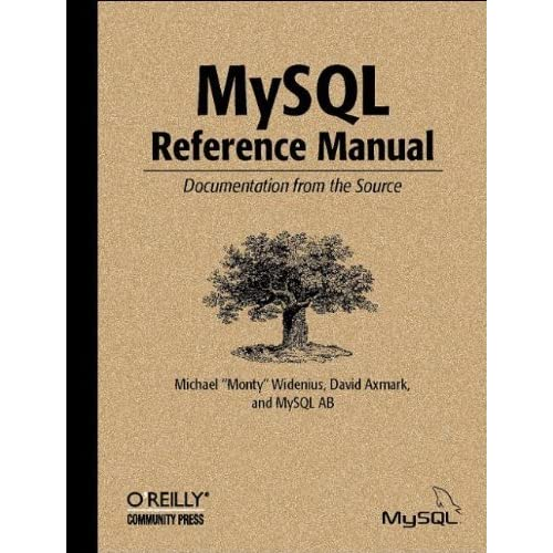 MySQL Reference Manual by Michael Widenius (2002-06-30)