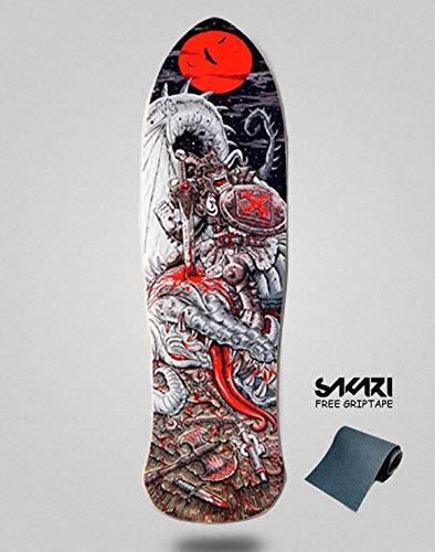 lordofbrands Monopatín Skate Skateboard Deck Old School H-Street Chenye mag Silver Dragon 9.0