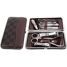 Ohuhu® [12 en 1] Acero inoxidable Manicura y Pedicura Personal Set Set, Viajes & Grooming Kit con el Caso Delicado Gratuito