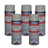 5 x Spraydose Heizkörper Lackspray reinweiss seidenmatt 400ml Alkydharzlack
