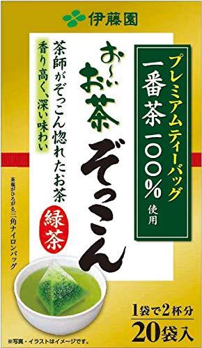 Itoen Oi Ocha Zokkon Premium Green Tea Bag, 20bags(for 40 Servings) [Japan Import] (Itoen Grüner Tee)