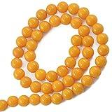 8mm Gelbe Jade Runden Edelstein Lose Perlen Strang 15,5 Zoll