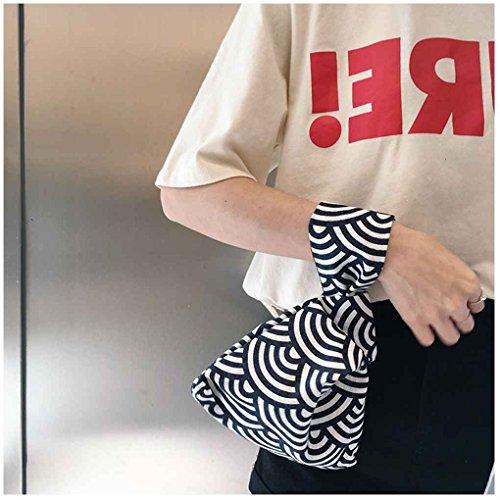 Chilie Borsa del sacchetto del polso delle ragazze del nodo del manicotto del nodo della borsa della borsa della borsa della borsa della borsa della borsa portatile della borsa portatile frecce grigie triangolo nero