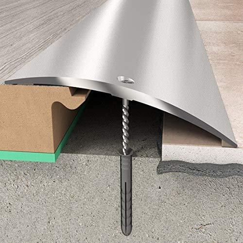 Übergangsprofil 70 x 6,55 mm | Aluminiumprofil Silber | Übergangsleiste Bodenprofil Bodenleiste Aluprofil Silber- 1860 mm