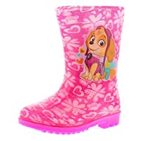 Paw Patrol New Younger Girls/Childrens Pink Everest Wellington Boots - Pink - UK Sizes 4-9