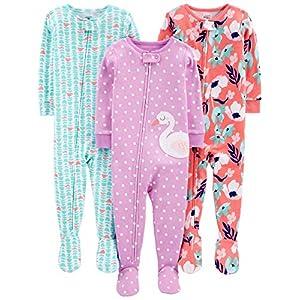 Simple Joys by Carter's pijama de algodón para bebés y niñas pequeñas, 3 unidades 2