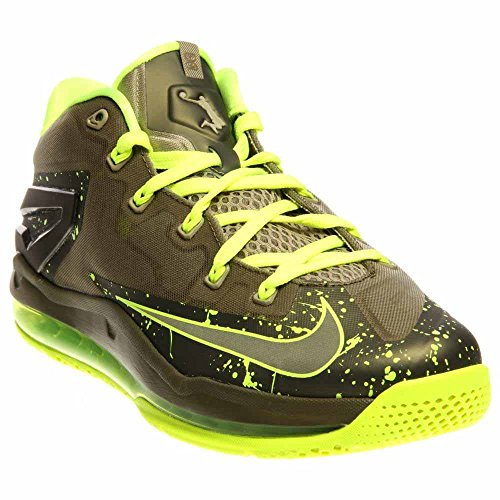 Nike Max Lebron XI Low (118) medium khaki, medium khaki-volt-medium olive