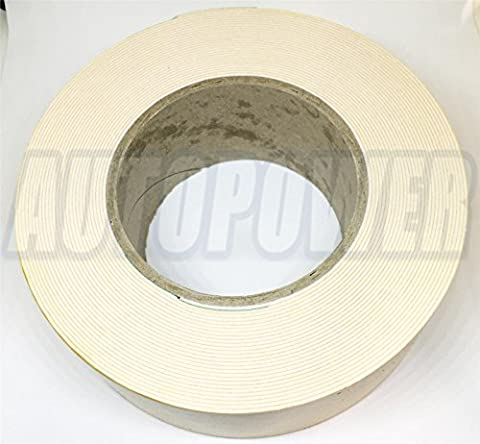 50mm Side Plastic Moulding Tape Double Sided Foam Waterproof Strong Adhesive 10M