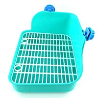 Wicemoon Pet Clean Toilet Litter Tray Corner Toilet House for Rabbit Small Animal Double Mesh Potty Anti-spray Urine