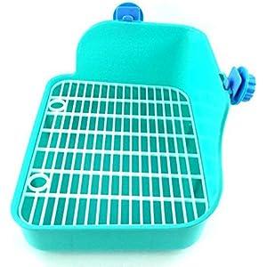Toruiwa quadratische spezielle Toilette Kleintierkäfige für Kaninchen, Chinchillas, Meerschweinchen, Marder und Kleintie kunststoff