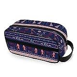 LZXO Bolsa de cosméticos colgante tribal egipcio jeroglífico de viaje bolsa de aseo con cremallera organizador de maquillaje profesional portátil bolsa de belleza para hombres mujeres y niños