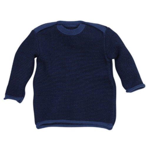 Disana 31302XX - Melange-Pullover Wolle blau, Size / Größe:74/80 (6-12 Monate) (Pullover Schurwolle)