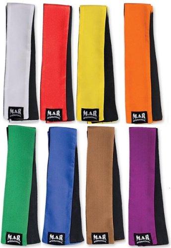 M.A.R International Ltd Kickboxen und Muay Thai Einstufung Schärpen Martial Arts Gear Polyester Seide Satin Stoff weiß Blau blau