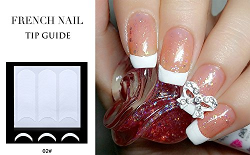 French Tips Nagelkunst Zubehör Nail Art Schablonen Nagel Tip Guides 02 - 02 Nagel Sticker - FashionLife