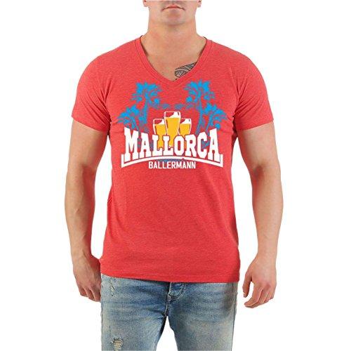 Männer und Herren T-Shirt MALLORCA Ballermann Malle Größe S - 8XL V-Neck