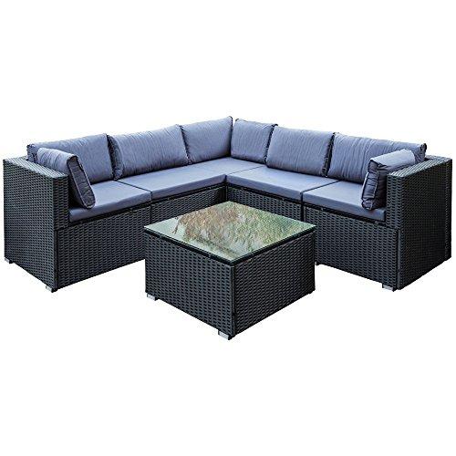 Poly Rattan Sitzgruppe Sitzgarnitur Gartenmöbel Sofa Lounge Garten