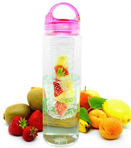 HEER Trinkflasche mit Fruchteinsatz (Rosa)