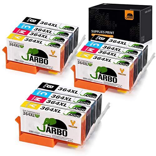 JARBO Ersetzt für HP 364XL 364 XL Druckerpatronen für HP Photosmart 6520 5510 7510 7520 5524 6510 5515 5520 5525 C5380 B110a B8550 HP OfficeJet 4620 4622 HP Deskjet 3070A 3520 3524 3522, 12er-Pack