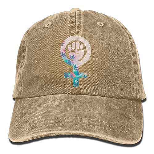 Jocper ¿Feminista? Gorro de Mezclilla Gorra de béisbol Ajustable con Estiramiento Femenino
