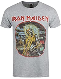 Iron Maiden T Shirt Killers Circle band logo new Official Mens Grey
