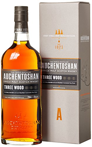 Auchentoshan Three Wood Single Malt Scotch Whisky (1 x 0.7 l) (12 Single Schwarz)
