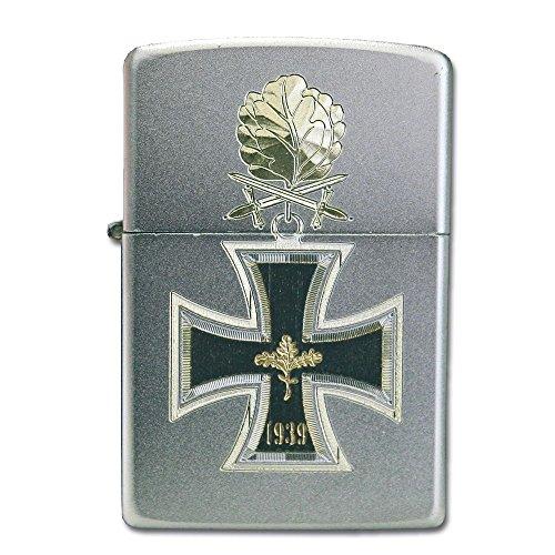Zippo 13579 Ritterkreuz 1939 mit Eichenlaub Feuerzeug, Chrom, Silber, 6 x 3,5 x 2 cm