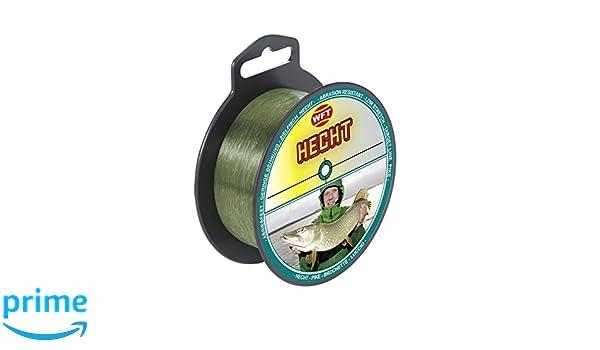 Hechtschnur Monoschnur WFT Zielfisch Hecht 250m 0,40mm 12,5kg gr/ün Monofile Schnur f/ür Hechte Angelschnur zum Hechtangeln