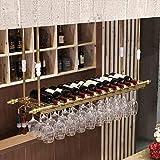 Wine rack too Weinregal Weinkühlschrank Ausstellungsstand Eisenkunstaufhängung Bar-Restaurant im europäischen Stil Auslage (Farbe : B, größe : 60cm)