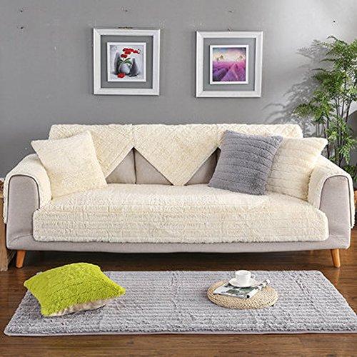 J&DSU Sofabezug Samt Sectional Sofa Rutschfeste Multi-Size Couchbezug Stückweise Verkauft,Maschine Waschbar-A 110x180cm(43x71inch) (Seide Samt Decke)