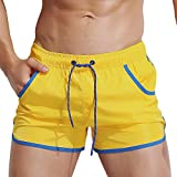 Badehose für Herren Jungen Badeshorts für Männer Kurz Vielfarbig Schnelltrocknend Beachshorts Boardshorts Strand Shorts Trainingshose mit Mesh-Futter und Verstellbarem Tunnelzug Größe S-2XL
