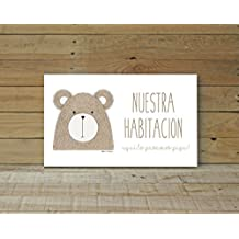 Placa Puerta Little Animals Bear