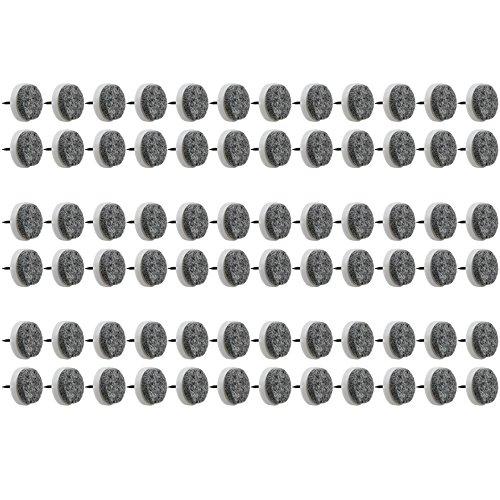 COM-FOUR® 72x Möbelgleiter aus Filz, mit Nagel, Ø ca. 2,5 cm