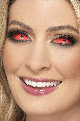 Erwachsene Herren Damen Unisex Full scelera rot Demon Rave wiederverwendbar Karneval Kosmetikum farbiges Kostüm Schutzbrille Zubehör