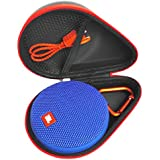 FitSand FitSand (TM) Portable Travel Carry Zipper Protective EVA Hard Case Cover Bag Box For JBL Clip 2 Waterproof Portable Bluetooth Speaker