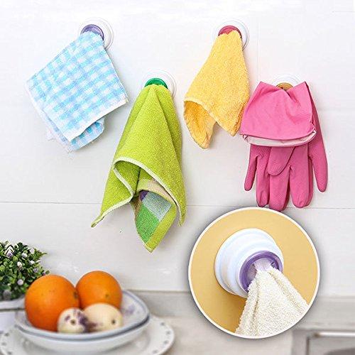 Bazaar Waschlappen Clip Halter Dishclout Storage Rack Küche Badezimmer Abnehmbare Handtuch Hanger (Badezimmer Storage-handtücher)