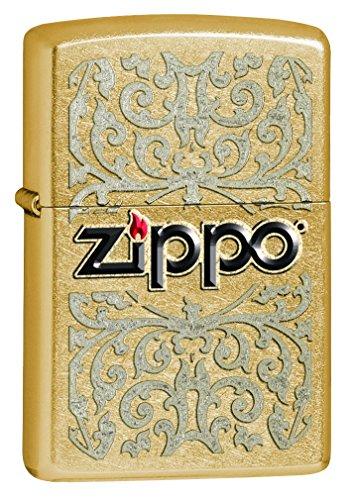 Zippo 60000622Logo Feuerzeug Messing Gold Dust 3,5x 1x 5,5cm