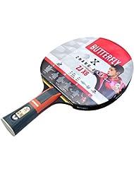 Schmetterling Unisex 6Zhang Jike ZJX 6Wakaba Tischtennisschläger, Schwarz/Rot, Full Size