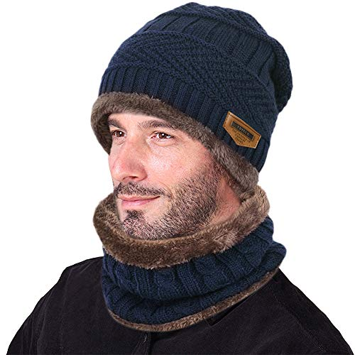 Imagen de vbiger  con bufanda y gorros de punto sombreros de invierno hombre alternativa