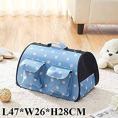 Tragbare Tasche Katzentasche, faltbare Haustier-Tasche Kleine frische Polka Dot Katzentasche