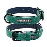 Engraved Leder weichen verstellbaren gepolsterten Hundehalsband, erstellen Sie Ihren eigenen Namen, verstellbare Hundehalsband 25-62cm (Farbe : #5, größe : XXL)