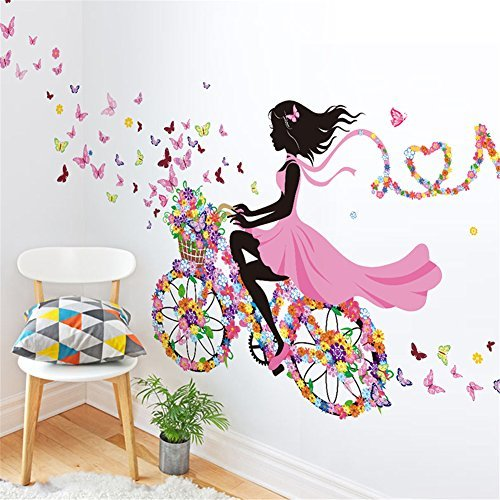 meihuida-magic-fairy-bright-flower-heart-shaped-garland-pink-dress-maid-wall-sticker-for-girls-room-
