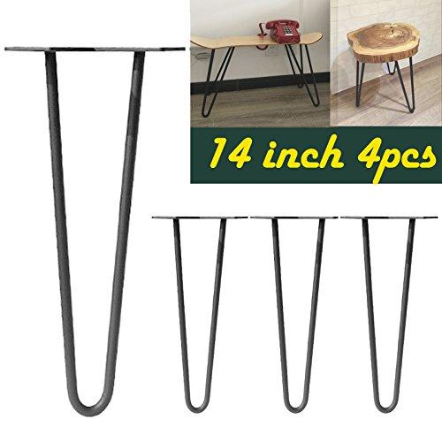 Haarnadel-Tischbeine, Schwarz, modernes Design, Metall, mit Stab, Antik, zum Basteln, für Möbel,...